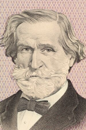 composer: Verdi on 1000 Lire 1977 banknote from Italy. Italian romantic composer mainly of opera.