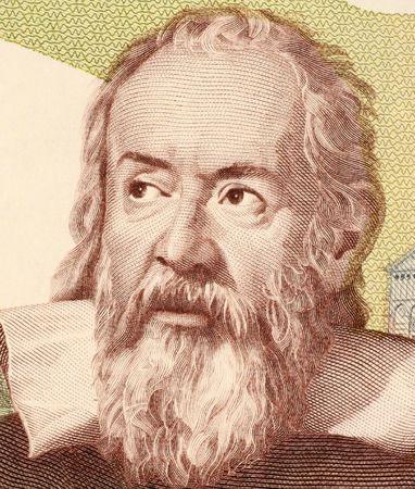 Galileo en el año 2000 Lire 1983 los billetes de Italia. El físico italiano, astrónomo, matemático y filósofo que ha desempeñado un papel importante en la revolución científica.