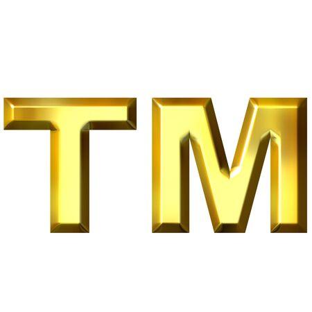 3d golden trademark symbol  photo