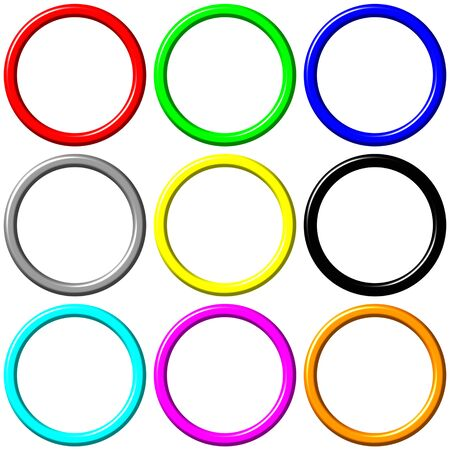 Colorful rings  Stock Photo - 5090002