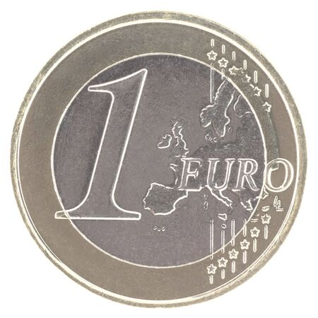 uncirculated: Uncirculated 1 euro with new map  Stock Photo