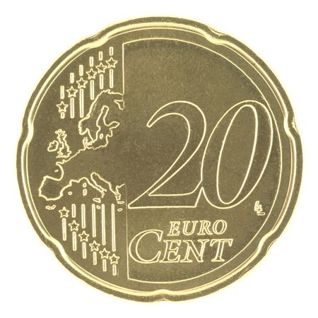 uncirculated: Uncirculated 20 eurocent with new map