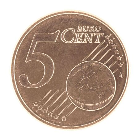 uncirculated: Uncirculated 5 eurocent  Stock Photo