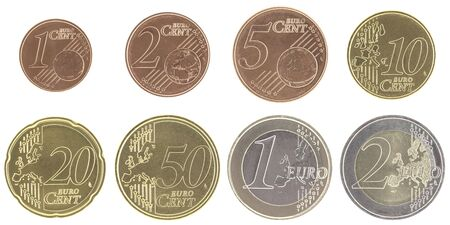 unc: Uncirculated euro coins set with new map