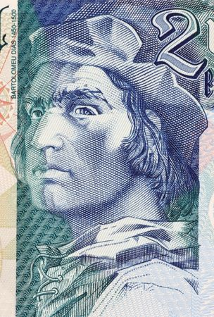 Bartolomeu Dias on 2000 Escudos 2000 Banknote from Portugal. Nobleman of the royal household and explorer. Stock Photo - 5239232