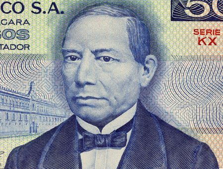 pesos: Benito Juarez on 50 Pesos 1981 Banknote from Mexico.  First full blooded indigenous to become president of Mexico and to lead a country in the western hemisphere in over 300 years