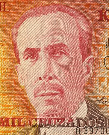 carlos: Carlos Chagas on 10000 Cruzados 1989 Banknote from Brazil. Biologist, physician and scientist active in the field of neuroscience.