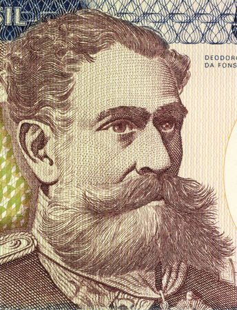 deposed: Deodoro da Fonseca on 500 Cruzerios 1981 Banknote from Brazil. First president of the republic of Brazil after heading a military coup that deposed emperor Pedro II.