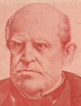 sarmiento: Domingo Sarmiento on 100 Austral 1985 Banknote from Argentina. Activist, intellectual, writer and the 7th president of Argentina. Stock Photo