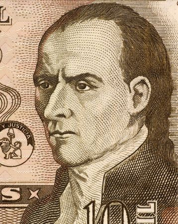 unc: Dr. Jose Gaspar Rodriguez de Francia on 10000 Guaranies 2004 Banknote from Paraguay. First leader of Paraguay after its independence from Spain.