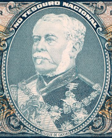 statesman: Duque de Caxias on 2 Cruzerios 1956 Banknote from Brazil. Military leader and statesman.