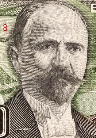 unc: Francisco Madero on 500 Pesos 1984 Banknote from Mexico. Politician, writer and revolutionary. President of Mexico during 1911-1913.