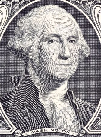 uncirculated: George Washington on 1 Dollar 2006 Banknote from USA. Commander of the continental army in the American revolutionary war during 1775-1783 and first president during 1789-1797. Stock Photo