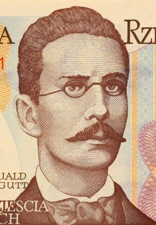 Romuald Traugutt on 20 Zlotych 1982 Banknote from Poland. General, war hero and commanded of the ''january uprising''. Stock Photo - 5239152