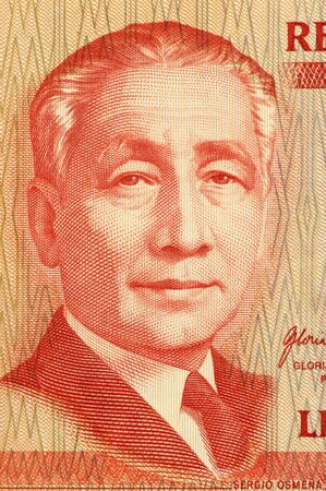 sergio: Sergio Osmena on 50 Piso 2008 Banknote from Philipines. Second president of the Philipines. Stock Photo