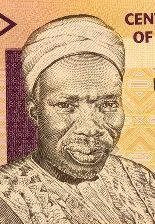 unc: Sir Abubakar Tafawa Balewa on 5 Naira 2006 Banknote from Nigeria. First prime minister of independent Nigeria. Stock Photo