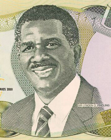 Sir Lynden Oscar Pindling on 1 Dollar 2001 Banknote from Bahamas. First black premier of the colony of Bahamas during 1967-1969 and prime minister during 1969-1992. Stock Photo - 5239310