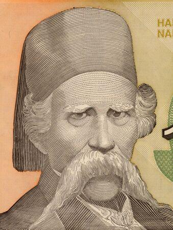 linguist: Vuc Stefanovic Karadzic on 10000 Dinara 1993 Banknote from Yugoslavia. Serbian linguist and major reformer of the Serbian language.