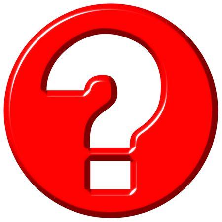 3d Frage Zeichen