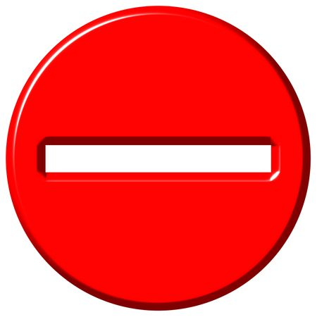 3d negative sign  Stock Photo - 5330286