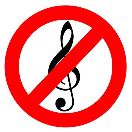 No music sign  photo