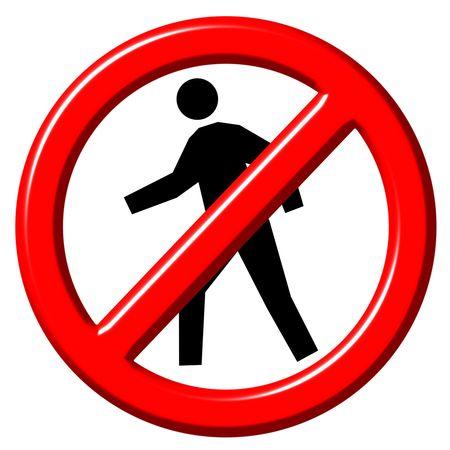 divieto: Non immettere segno 3d  Archivio Fotografico