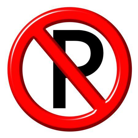 no parking: No parking 3d sign  Stock Photo