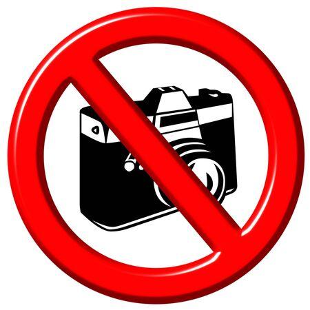 No photographs 3d sign  photo
