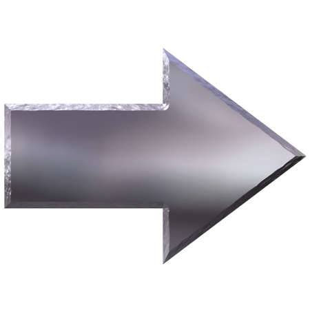 3d carved silver arrow  photo