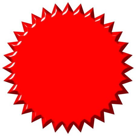 shinning: 3d red seal  Stock Photo