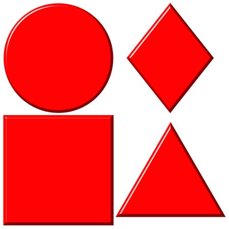 3d red shapes Stock Photo - 6115070