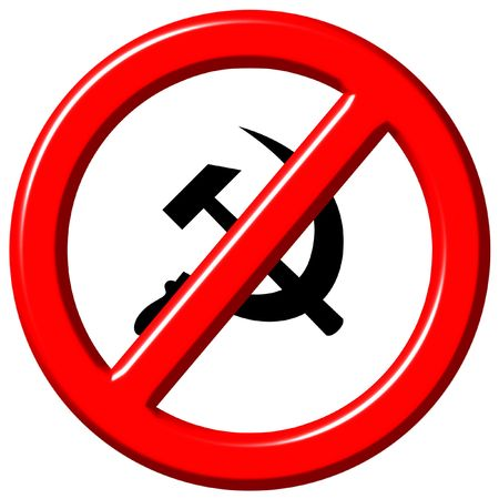 Anti communism 3d sign isolated in white Stock Photo - 6159128