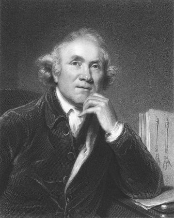 John Hunter on engraving from the 1850s. The father of scientific surgery. One of the first to apply a rational and scientific approach to surgery. Stock Photo - 6222036