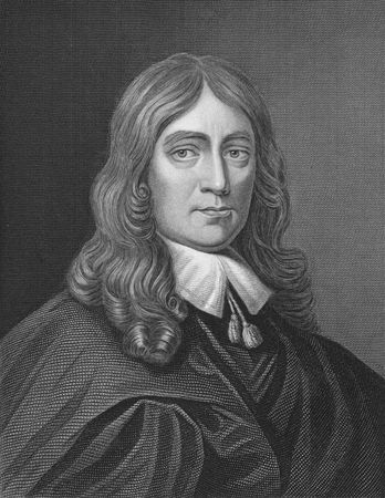 John Milton on engraving from the 1850s. English poet, author, polemicist and civil servant for the commonwealth of England. Best known for his epic poem Paradise Lost. Stock Photo - 6222009