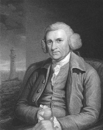 John Smeaton on engraving from the 1850s. The father of civil engineering, responsible for the design of bridges, canals, harbours and lighthouses. Stock Photo - 6222041
