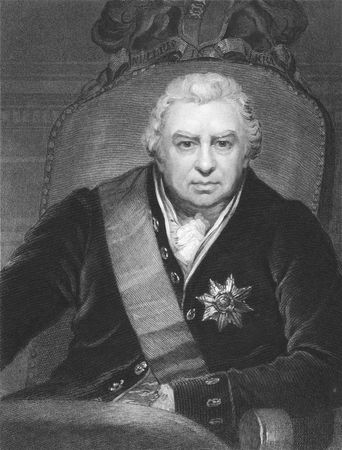 Joseph Banks on engraving from the 1850s. Naturalist and patron of science. Stock Photo - 6221979
