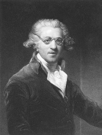 Joshua Reynolds on engraving from the 1850s. 18th century English painter. Stock Photo - 6222022