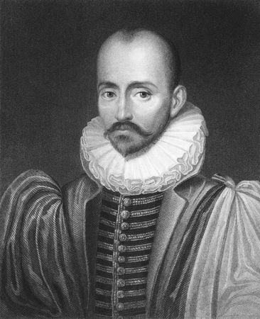 Michel de Montaigne on engraving from the 1850s. One of the most influential writers of the French renaissance.