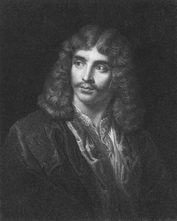 greatest: Moliere on engraving from the 1850s. French playwright and actor. One of the greatest masters of comedy in western literature.