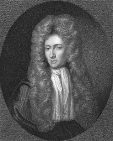 noted: Robert Boyle on engraving from the 1850s. Irish natural philosopher, chemist, physicist, inventor and gentleman scientist, also noted for his writings in theology. One of the founders of modern chemistry.