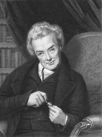 philanthropist: William Wilberforce on engraving from the 1850s. British politician, a philanthropist and a leader of the movement to abolish the slave trade.