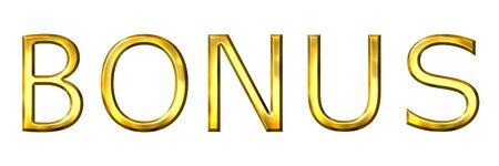 3d golden bonus Stock Photo - 6238756
