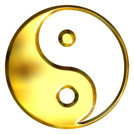 ying: 3d golden Tao symbol  Stock Photo