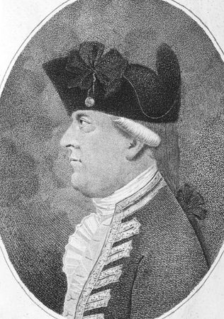 alan: Alan Gardner, 1st Baron Gardner (1742-1809) on engraving from the 1800s. British Royal Navy officer and peer of the realm. Engraved by Pierson and published by J.Sewell.