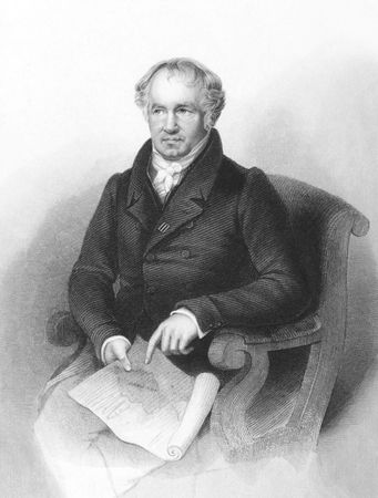 Alexander von Humboldt (1769-1859) on engraving from the 1800s. German naturalist and explorer. Engraved by A.H.Payne and published in London by Brain & Payne.