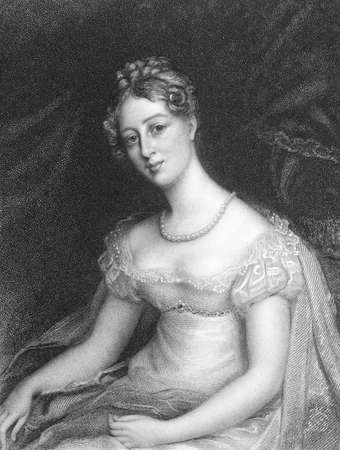 anne: Anne Beckett on engraving from the 1800s. Engraved by Thomson and published by Whittaker & Co.. Editorial