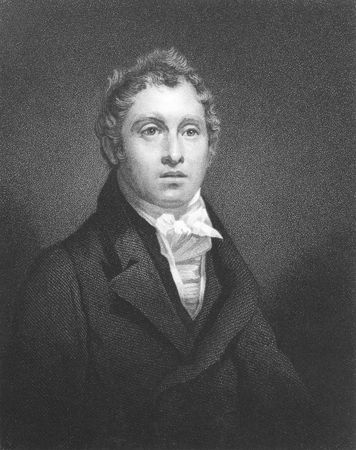 astronomer: David Brewster (1781-1868) on engraving from the 1800s. Scottish mathematician, physicist, astronomer, inventor and writer. Engraved by W.Hall and published in London by Fisher, Son & Co in 1847.
