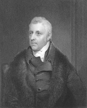 a faction: Dudley Ryder, 1st Earl of Harrowby (1762-1847) on engraving from the 1800s. Prominent British politician of the Pittite faction and the Tory party. Engraved by H.Robinson and published in London by Fisher, Son & Co in 1846. Editorial