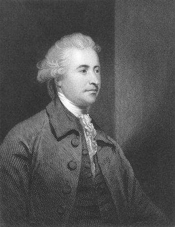 Edmund Burke (1729-1797) on engraving from the 1800s. Anglo-Irish statesman, author, orator, political theorist and philosopher. Mostly remembered for his opposition to the French Revolution. Leading figure within the conservative faction of the Whig part Stock Photo - 8510688