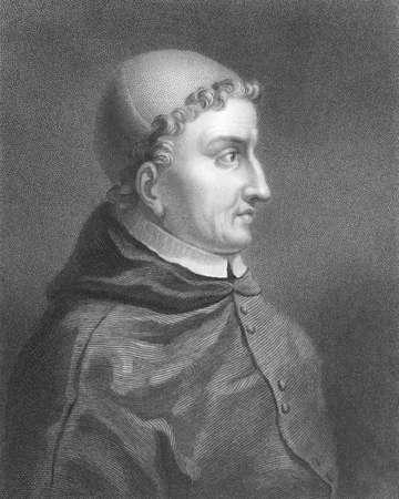 statesman: Francisco Jim�nez de Cisneros (1436-1517) incisione dal XIX secolo. Cardinale spagnolo e statista. Incisione di C.E.Wagstaff e pubblicato a Londra da Charles Knight, Ludgate Street.
